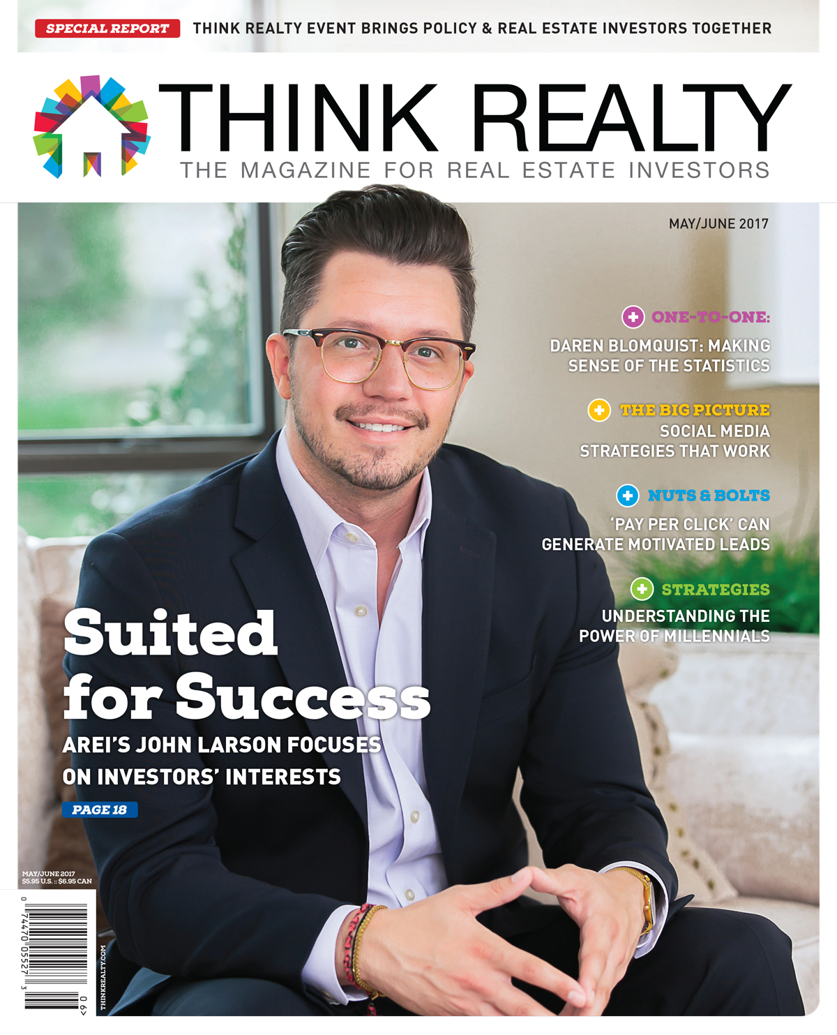 Think Realty Magazine Cover, John Larson